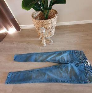 Jeans faded blue straight leg